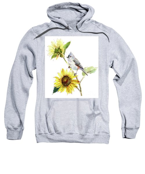 Titmouse With Sunflower Sweatshirt