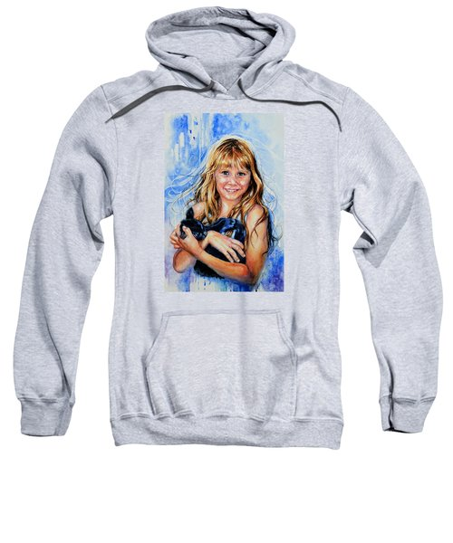 Sweatshirt featuring the painting Together Again by Hanne Lore Koehler
