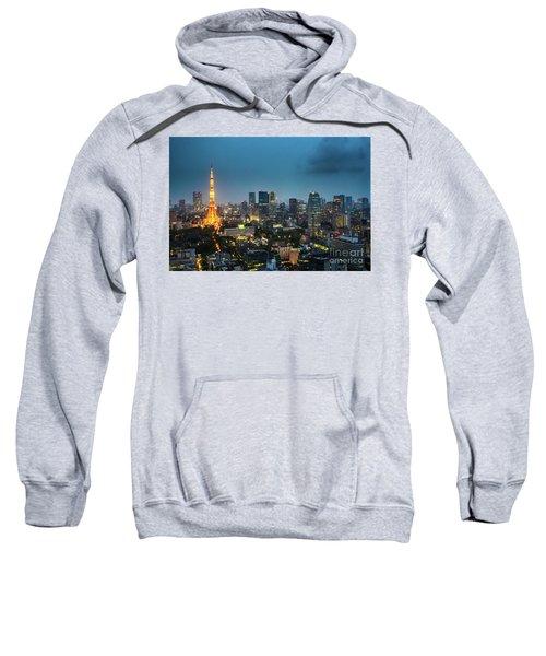 Tokyo Tower And Skyline Sweatshirt