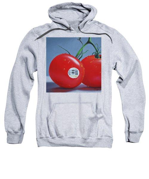 Tomatoes With Sticker Sweatshirt