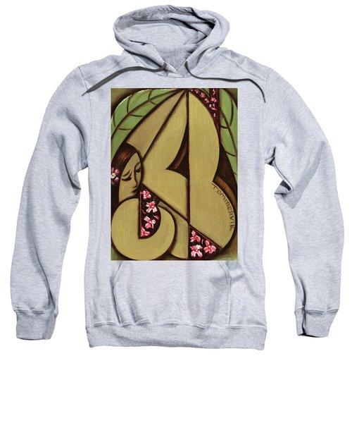 Tommervik Abstract Hawaiian Woman Art Print  Sweatshirt