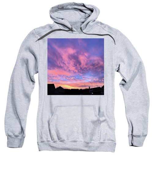 Tonight's Sunset Over Tesco :) #view Sweatshirt