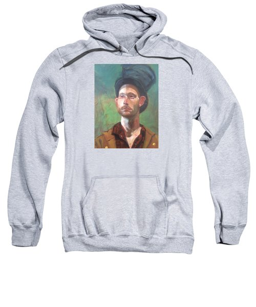 Sweatshirt featuring the painting Topper by JaeMe Bereal