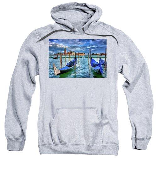 Gondolas And San Giorgio Di Maggiore In Venice, Italy Sweatshirt