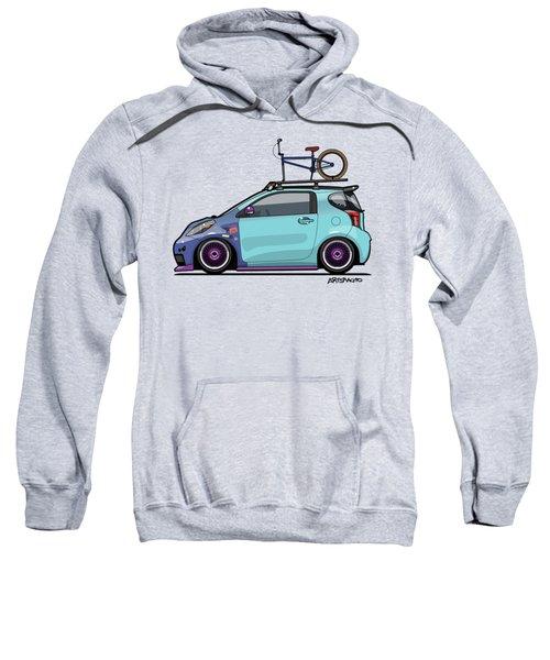 Toyota Scion Iq Slammed With Bmx Bike Sweatshirt
