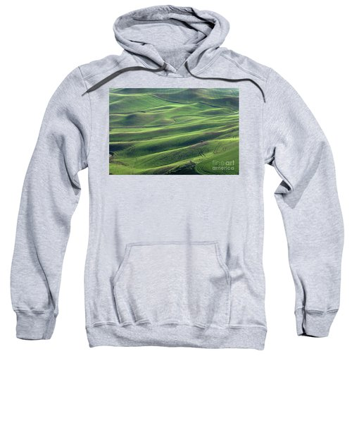 Tractor Tracks Agriculture Art By Kaylyn Franks Sweatshirt