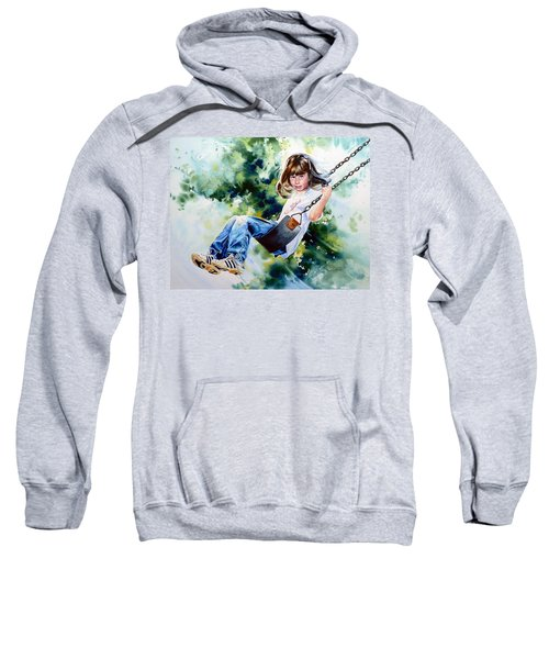 Sweatshirt featuring the painting Tracy by Hanne Lore Koehler