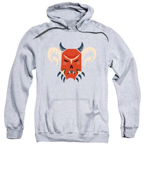Traditional Bulgarian Evil Monster Kuker Mask Sweatshirt