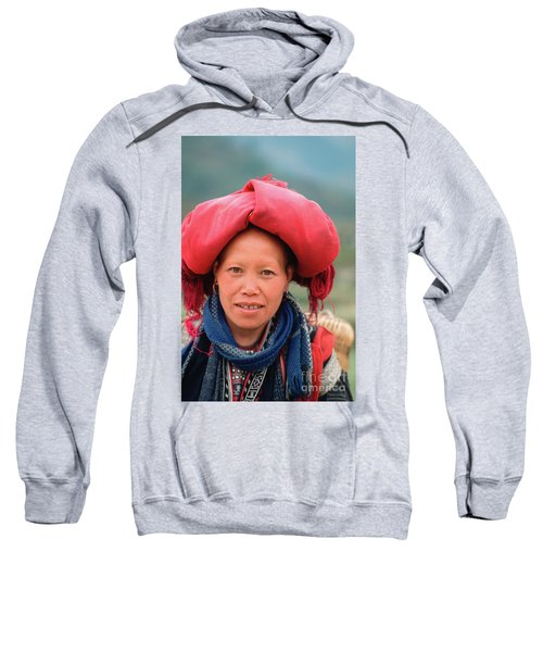 Traditional Fashion Of A Red Dzao Woman Sweatshirt