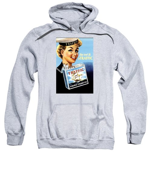 Sweatshirt featuring the digital art Traffic Cigarette by Reinvintaged