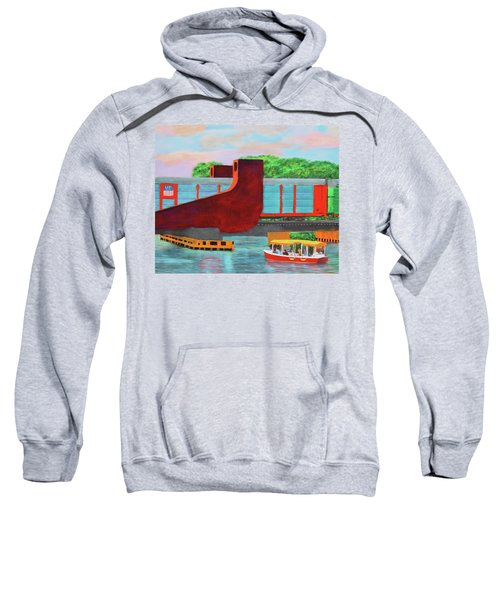 Train Over The New River Sweatshirt