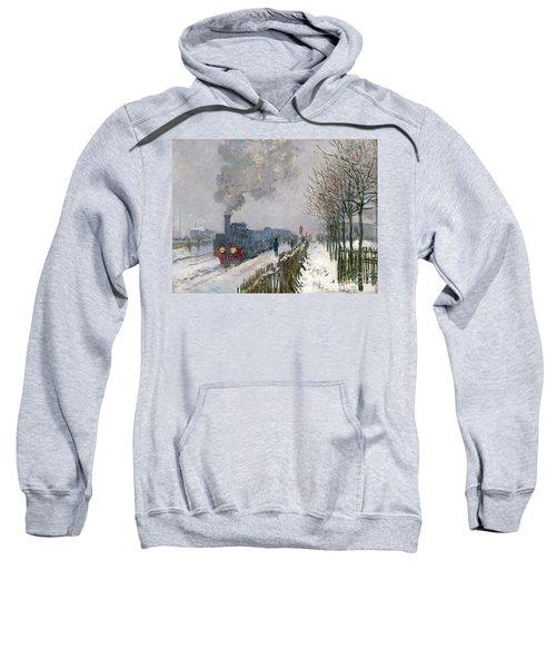 Train In The Snow Or The Locomotive Sweatshirt