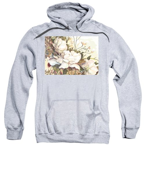 Tranquility Study In White Sweatshirt