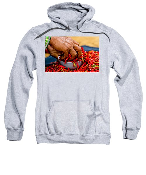 Woman Holding Red Chillies, Can Cau Market, Sapa,vietnam Sweatshirt