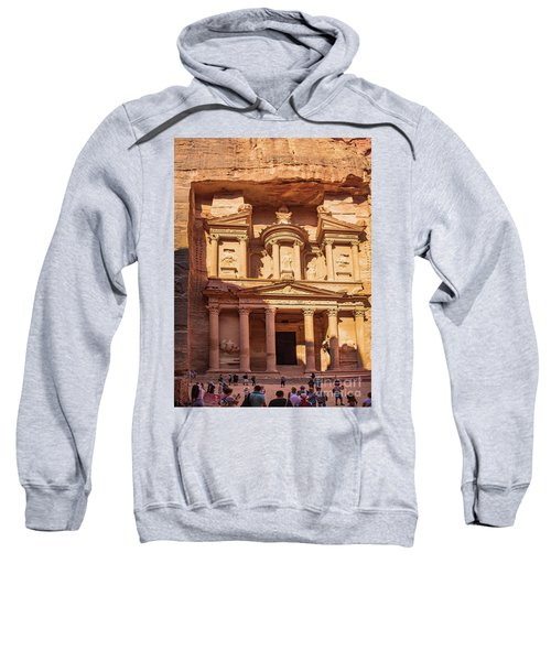 Sweatshirt featuring the photograph Treasury Of Petra In Color by Mae Wertz