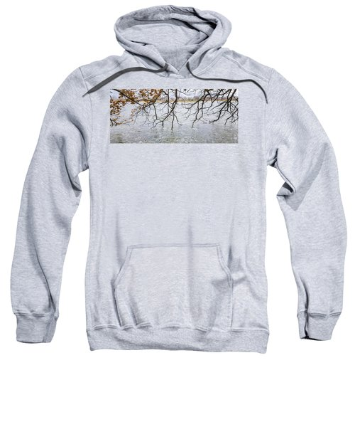 Tree Branches Over Lake Sweatshirt