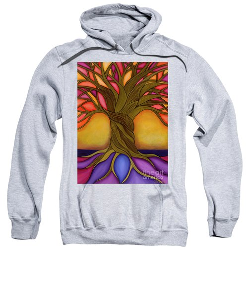 Sweatshirt featuring the painting Tree Of Life by Carla Bank