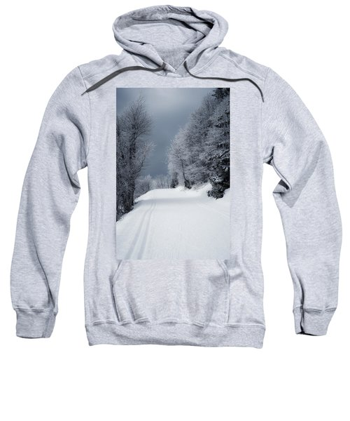 Trees Hills And Snow Sweatshirt