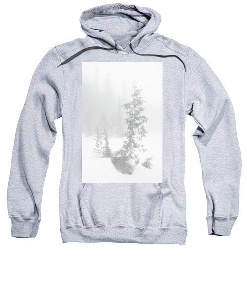 Trees In Fog Monochrome Sweatshirt