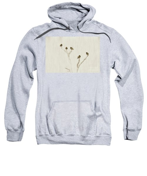 Treetop Starlings Sweatshirt by Benanne Stiens