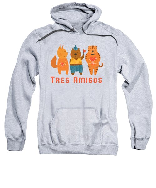 Tres Amigos Cute Animals Tee Sweatshirt