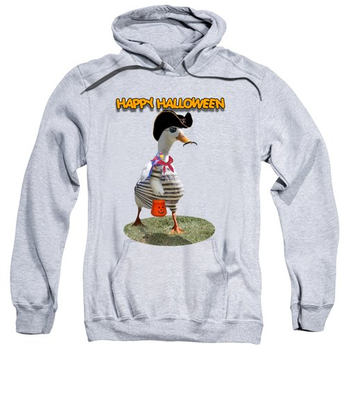 Trick Or Treat For Cap'n Duck Sweatshirt by Gravityx9 Designs