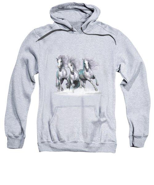 Trinity Galloping Horses Blue Sweatshirt