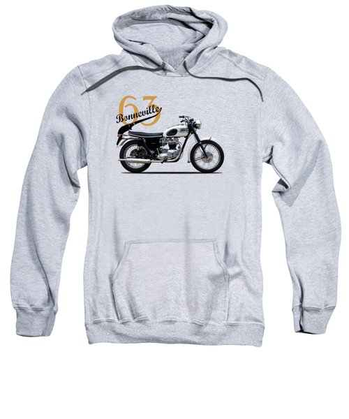 Triumph Bonneville 1963 Sweatshirt by Mark Rogan