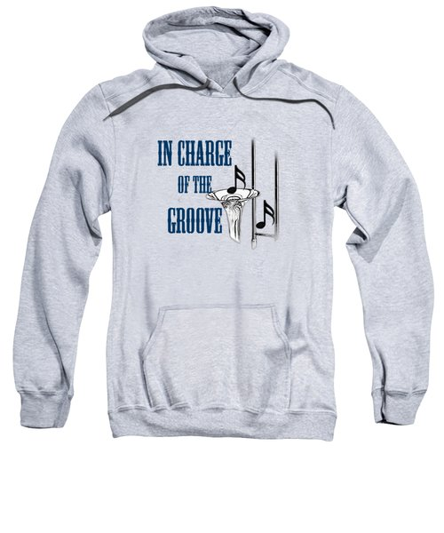 Trombones In Charge Of The Groove 5533.02 Sweatshirt by M K  Miller