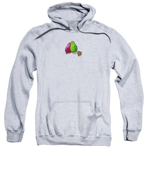 True Love Heart Sweatshirt by LimbBirds Whimsical Birds