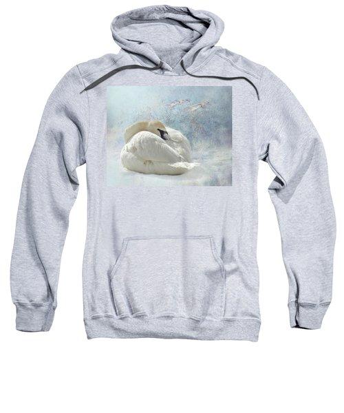 Trumpeter Textures #1 - Swan Feather Sweatshirt
