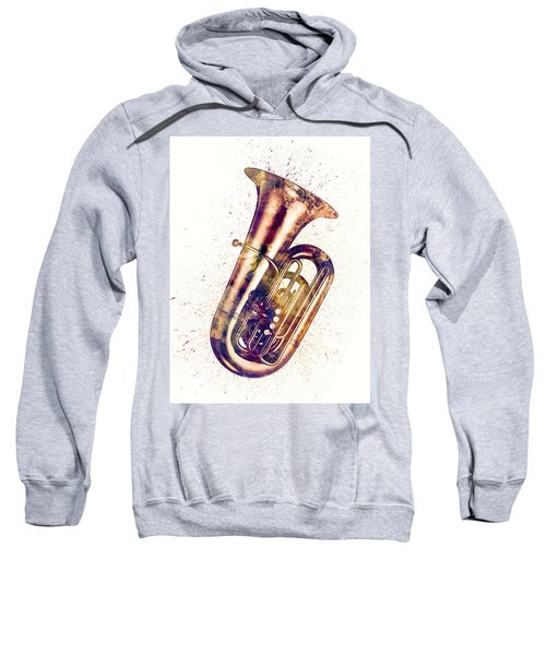 Tuba Abstract Watercolor Sweatshirt
