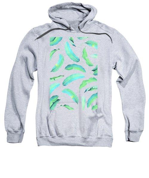 Turn Over A New Banana Leaf  Sweatshirt by Uma Gokhale