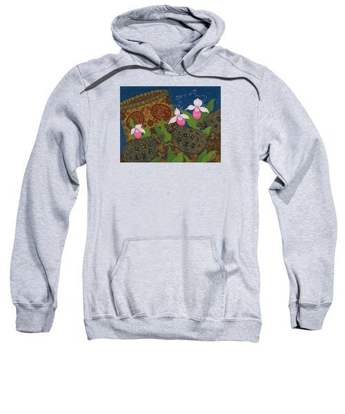 Sweatshirt featuring the painting Turtle - Mihkinahk by Chholing Taha