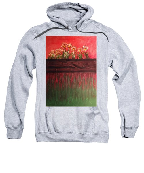 Twelve Daises In Window Box Sweatshirt