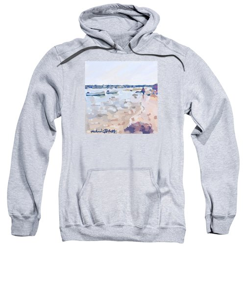 Two Boats At Ten Pound Island Beach Sweatshirt by Melissa Abbott