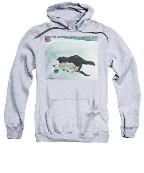 Two Cats In A Tub Sweatshirt