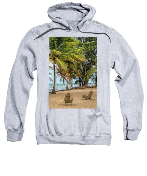 Two Chairs In Belize Sweatshirt