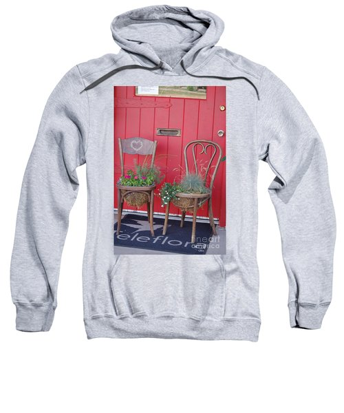 Two Chairs With Plants Sweatshirt