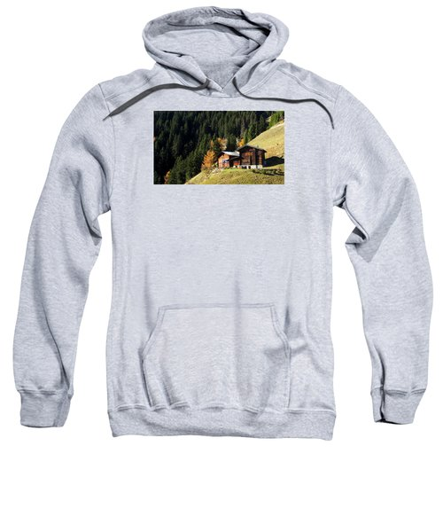 Two Chalets On A Mountainside Sweatshirt