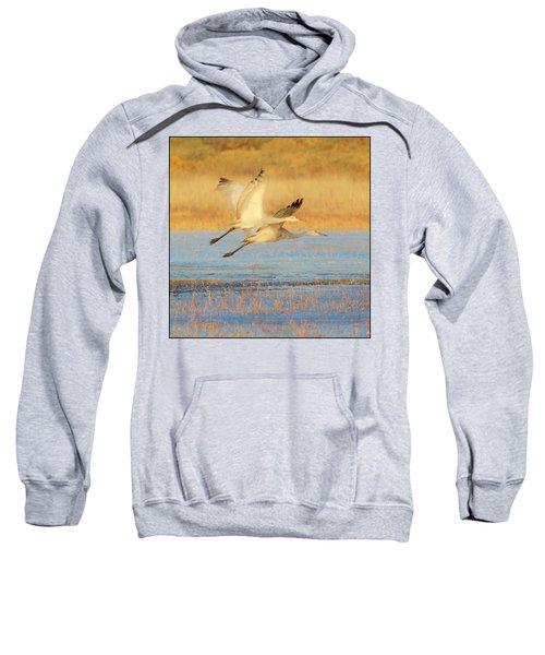 Two Cranes Cruising Sweatshirt