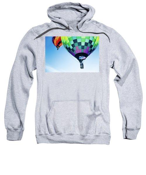 Two Hot Air Balloons Ascending Sweatshirt