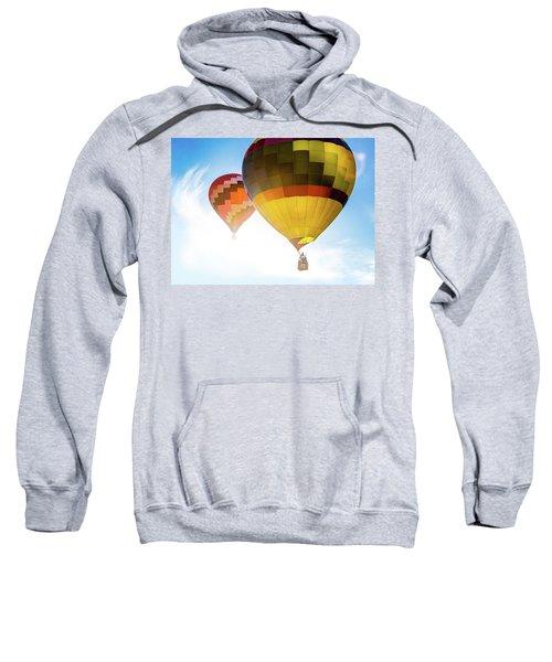 Two Hot Air Balloons Into The Sun Sweatshirt