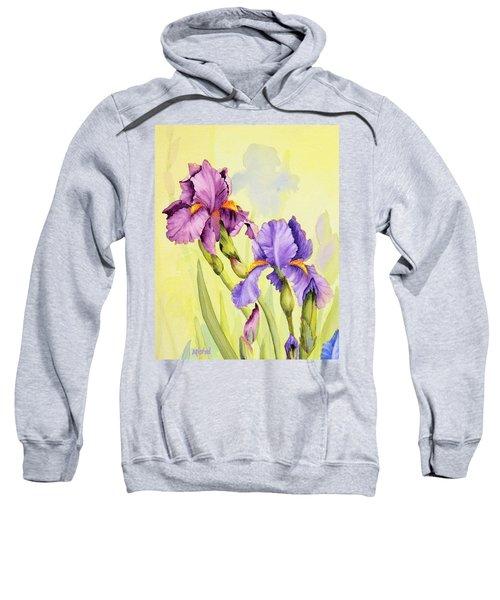 Two Irises  Sweatshirt