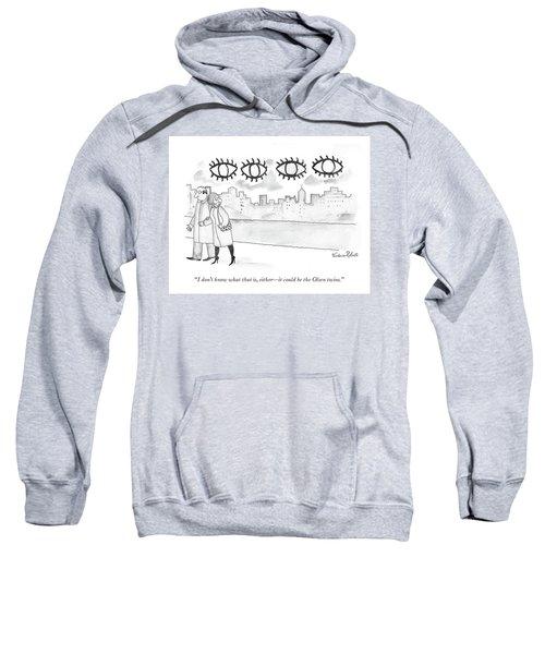 Two Large Sets Of Eyes Loom Over City Skyline. Sweatshirt
