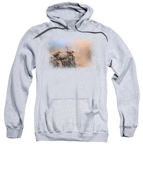 Two Little Wrens Sweatshirt by Jai Johnson