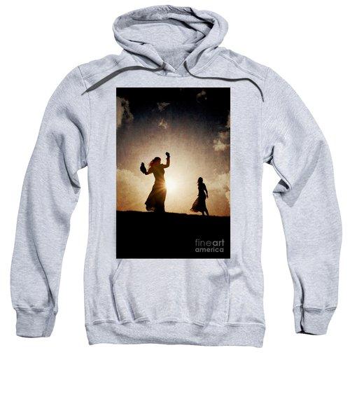 Two Women Dancing At Sunset Sweatshirt
