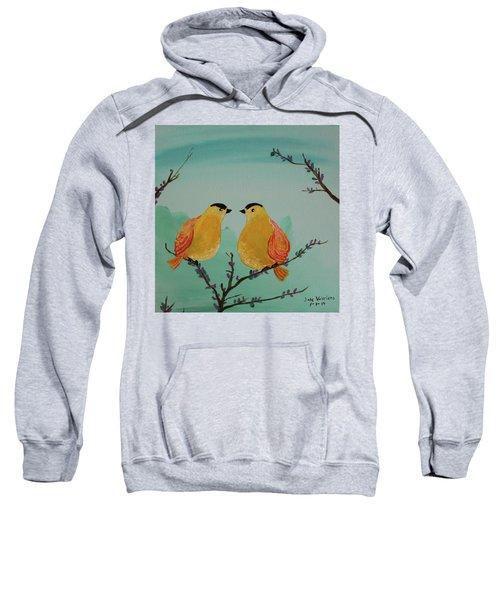 Two Yellow Chickadees Sweatshirt