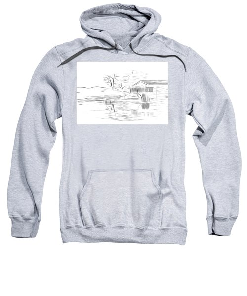 Ullswater Digital Art Sweatshirt