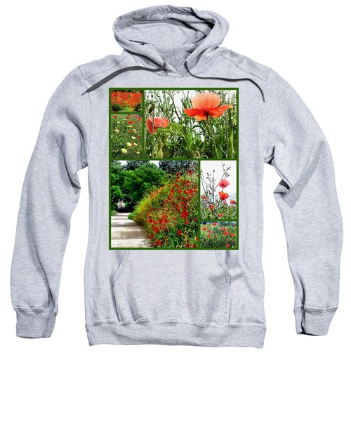 Umbrian Red Poppy Collage Sweatshirt